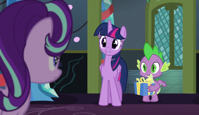 "File:Twilight ""your first Hearth's Warming Eve here"" S6E8.png"