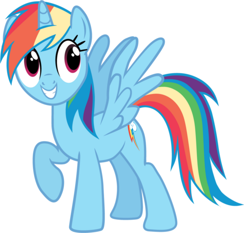 File:FANMADE pony request 160 alicorn Rainbow Dash by ah darnit.png