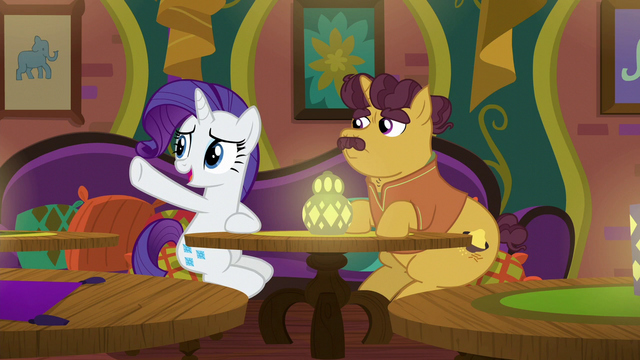File:Rarity gesturing toward the restaurant door S6E12.png