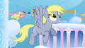 Derpy flying around in Cloudsdale cropped 2 S1E16.png
