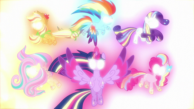 File:Rainbow Power Mane Six's eyes glow white S5E13.png
