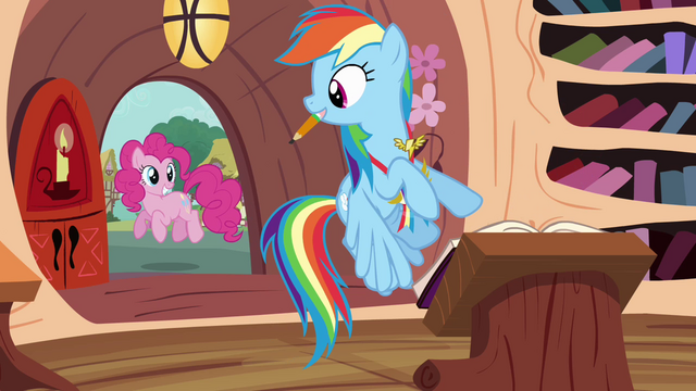 File:Rainbow looking at Pinkie outside S4E10.png
