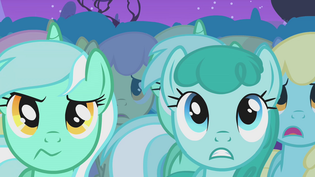 File:Two Lyra Heartstrings and Sprinkle Medley are unimpressed S1E14.png