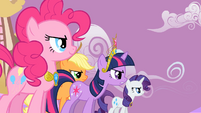 Applejack Twilight Sparkle Rarity Pinkie Pie Speech2 S2E2