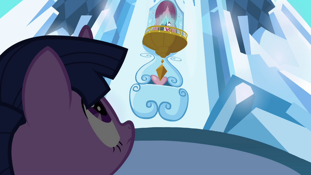 File:Shining Armor talks to Twilight from above S3E2.png