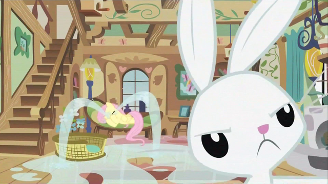 File:Fluttershy and Angel S02E23.png