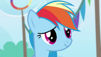 Rainbow Dash touched smile S4E10