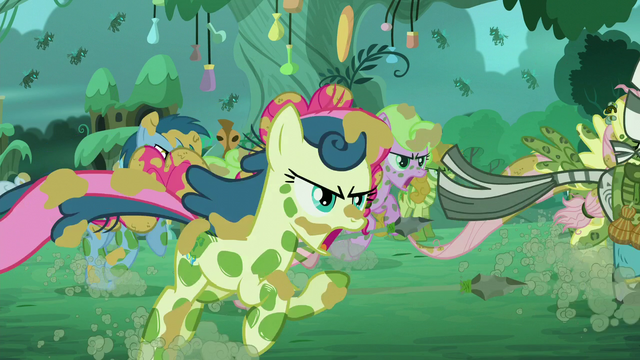 File:Zecora and ponies run S5E26.png