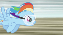 Rainbow Dash flying fast S2E03