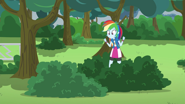 File:Rainbow Dash hears Pinkie in the bush EG3.png