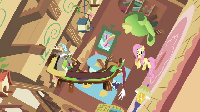 File:Discord and Fluttershy in spinning cottage S03E10.png