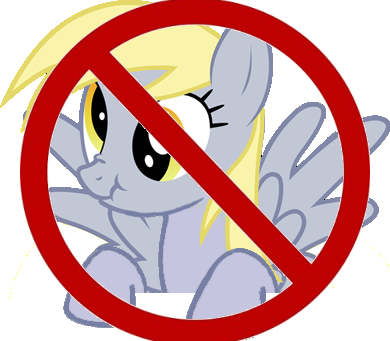 File:FANMADE Derpy NO Sign.png
