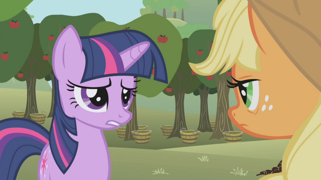 File:Twilight asks about Applejack's relatives S1E04.png