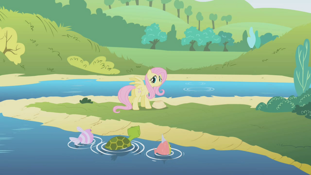 File:Fluttershy at the lake S1E05.png
