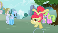 Apple Bloom riding hoop upside down S2E06.png