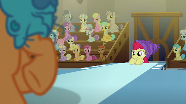 File:Apple Bloom watches Tender Taps dance on stage S6E4.png