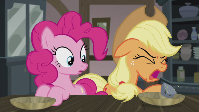 File:Applejack coughs up a rock S5E20.png