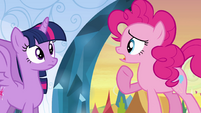 "Pinkie Pie ""you also wanna curl up"" EG"