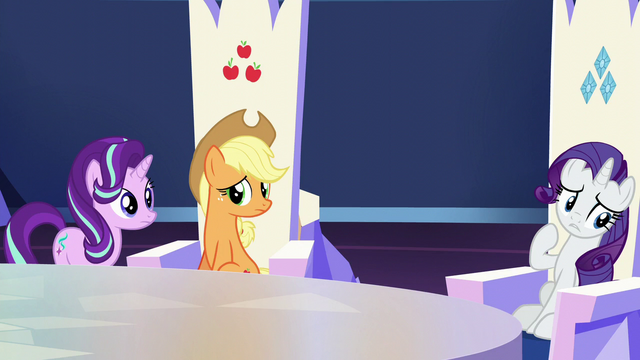 "File:Rarity ""we're still not sure"" S6E1.png"