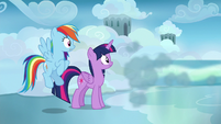 Sky speeds away from Twilight and Rainbow again S6E24