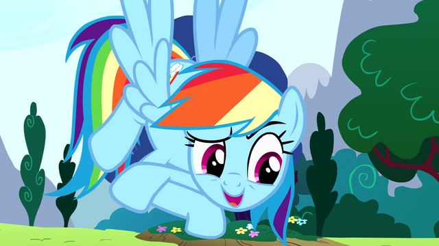 "File:Rainbow Dash ""it's my birth-iversary"" S4E12.png"