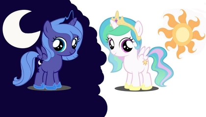 File:FANMADE Filly Luna and Celestia.jpg