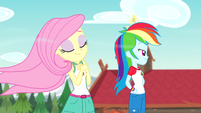 Fluttershy with windswept hair bloopers version EG4b