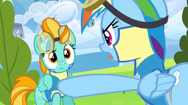 File:Rainbow Dash yelling at Lightning Dust S3E07.png