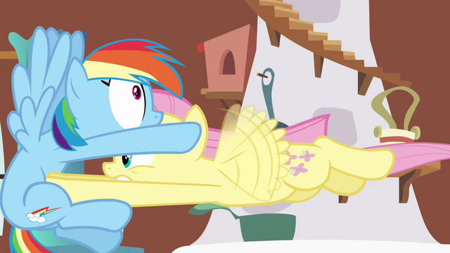 File:Fluttershy pummeling into Rainbow Dash S2E21.png