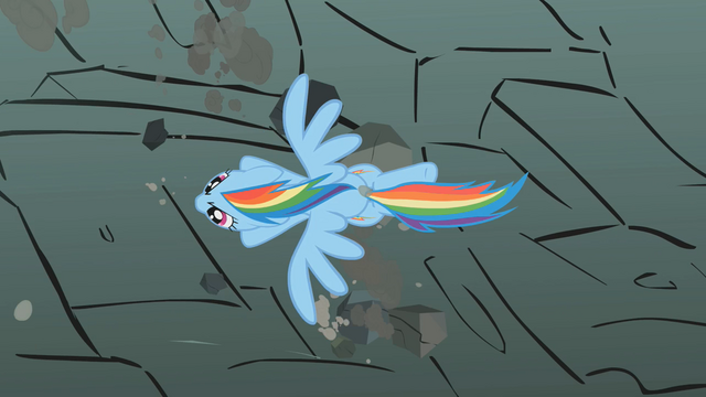 File:Rainbow Dash soars past the rocks S01E07.png