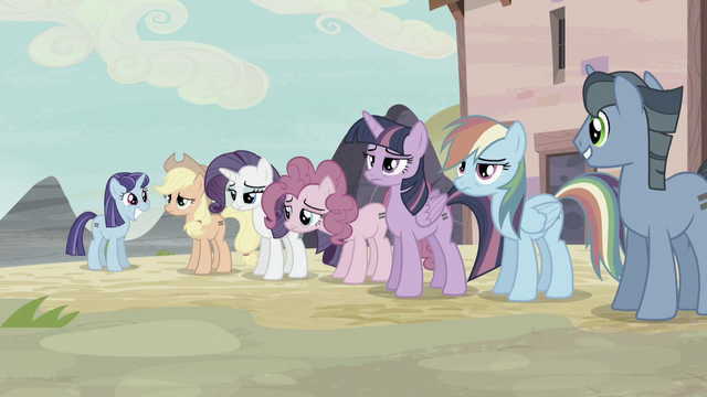 File:Twilight and friends looking exhausted S5E2.png