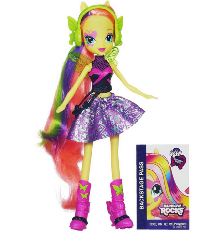 File:Fluttershy Equestria Girls Rainbow Rocks doll.png