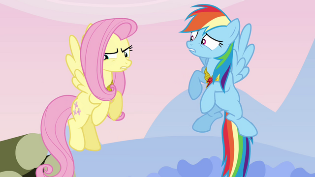 "File:Fluttershy the ""silly, gullible fool"" S03E10.png"