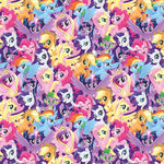 My Little Pony The Movie pony crowd woven cotton fabric by Etsy