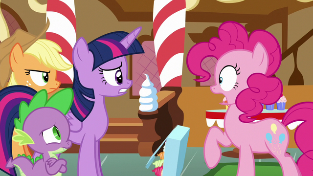 File:Pinkie Pie startled to see her friends S6E15.png