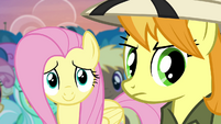 Fluttershy touched by Rainbow's words S4E22