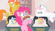 Nurse Redheart silencing Pinkie Pie S2E13