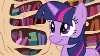 Twilight Sparkle with a grin S2E03