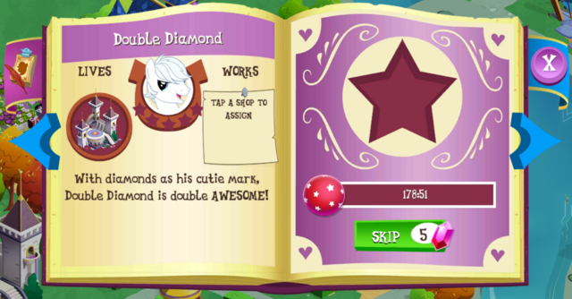 File:Double Diamond album page MLP mobile game.png