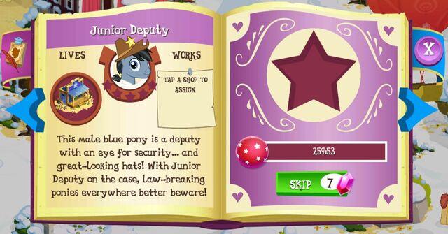 File:Junior Deputy album page MLP mobile game.jpg