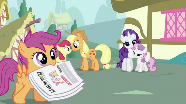 File:Scootaloo with a newspaper S2E23.png