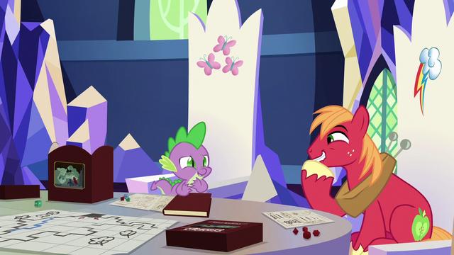 File:Spike and Big Mac sharing an inside joke S6E17.png