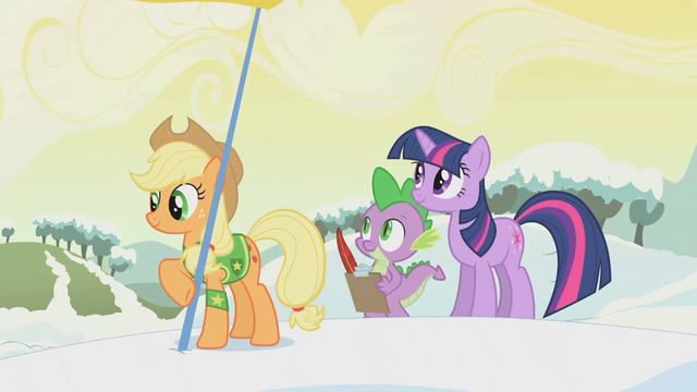 File:Applejack holds a flag S1E11.png