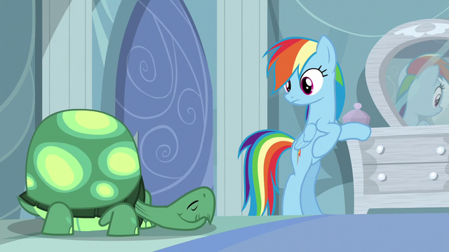 File:Rainbow looks at Tank sleeping S5E5.png