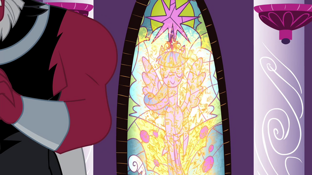 File:Stained glass window of Twilight melted S4E26.png