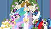 A Canterlot Wedding promotional with normal Shining