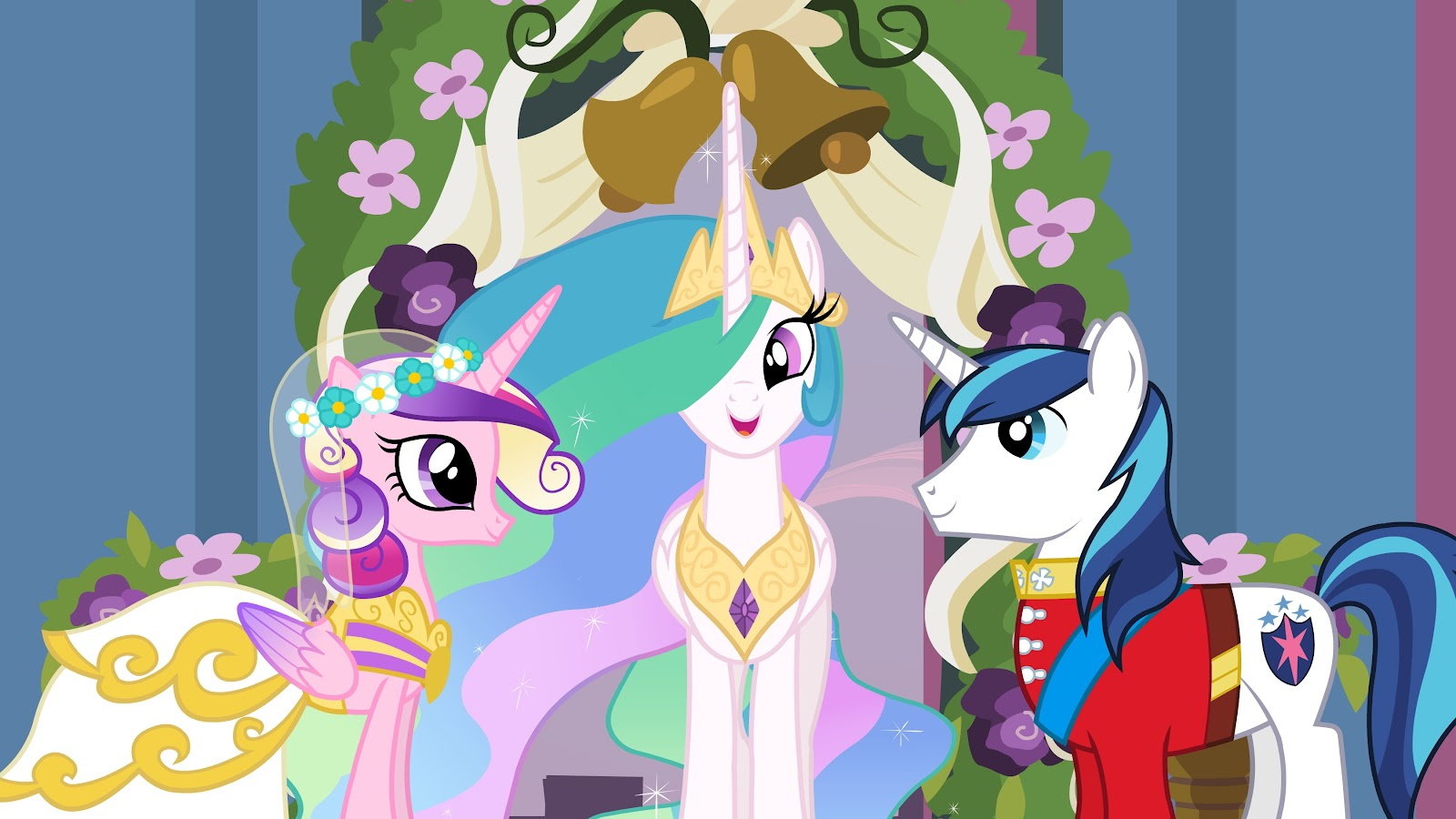 Image A Canterlot Wedding Promotional With Normal Shining Jpg My Little Pony Friendship Is Magic Wiki Fandom Ed By Wikia