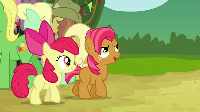 File:Apple Bloom walking with Babs S3E08.png