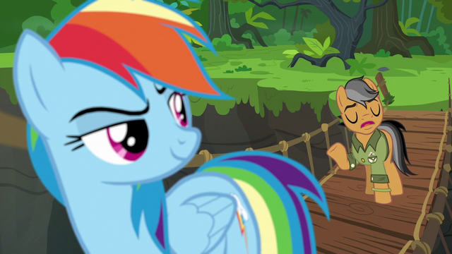 """File:Quibble """"if this were really a real Daring Do adventure"""" S6E13.png"""