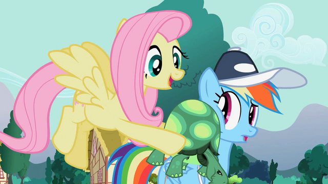 File:Tank on Rainbow Dash's cheek S2E7.png